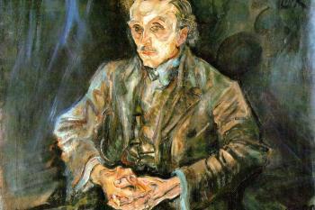 Oskar Kokoschka - portrét Adolf Loos, 1909